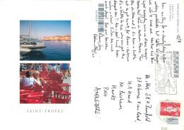 Saint-Tropez, Var, France Postcard Posted 1993 Stamp - Saint-Tropez