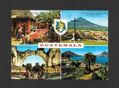 GUATEMALA - RUINAS DE ANTIGUA - CERRO DE LA CRUZ - LAGO ATITLAN - INDIGENAS TEJJENDO - TRÈS BEAU TIMBRE - Guatemala