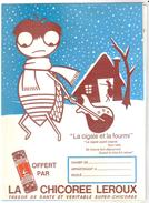 Protège Cahier Chicorée Leroux La Cigale Et La Fourmi - Buvards, Protège-cahiers Illustrés