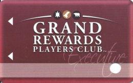 Grand Traverse Resort & Casinos - Michigan, USA - Slot Card - Reverse Text Centered (BLANK) - Casino Cards