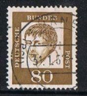 Germany SG1273 1961 Definitive 80pf Good/fine Used - [7] Federal Republic