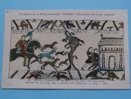 TAPISSERIE De La Reine MATHILDE Bayeux The Queen Mathilda TAPESTRY ( N° 103 ) Anno 19?? ( Zie Foto Voor Details ) - Belle-Arti