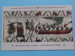 TAPISSERIE De La Reine MATHILDE Bayeux The Queen Mathilda TAPESTRY ( N° 128 ) Anno 19?? ( Zie Foto Voor Details ) - Arts