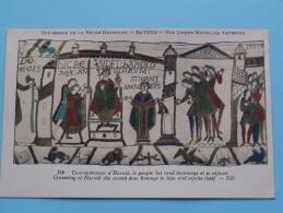TAPISSERIE De La Reine MATHILDE Bayeux The Queen Mathilda TAPESTRY ( N° 134 ) Anno 19?? ( Zie Foto Voor Details ) - Belle-Arti