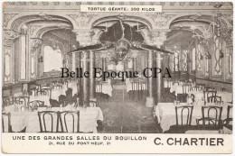 75 - PARIS 01 - 21, Rue Du Pont-Neuf - Le BOUILLON - Une Des Grandes Salles +++++ C. CHARTIER / Tortue Géante 350 Kilos - District 01