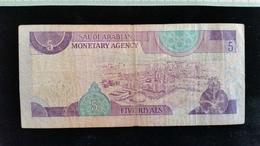 Billet De 5 Riyal, Arabie Saoudite, - Arabie Saoudite