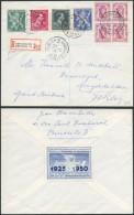 AG481 Lettre Recommandée De Bruxelles 33 Vers Middleton UK 1950 - Belgium