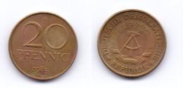 Germany DDR 20 Pfennig 1983 A - [ 6] 1949-1990 : GDR - German Dem. Rep.