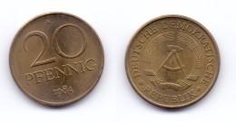 Germany DDR 20 Pfennig 1984 A - [ 6] 1949-1990 : GDR - German Dem. Rep.