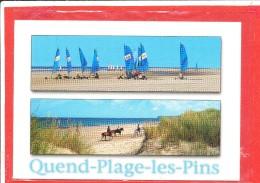 CHAR A VOILE Cpm QUEND PLAGE Les BAINS   Edit Artaud - Cartes Postales