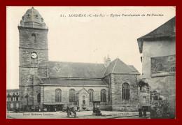 Loudéac - église Paroissiale De St Nicolas    - édition Bazar Moderne   ( Scan Recto Et Verso ) - Loudéac