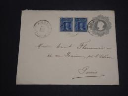 CHILI - Entier Postal + Complément  De Los Angeles Pour La France En 1909 - A Voir - L  3975 - Chile