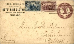 ETATS UNIS - Entier Postal + Complément  De Chicago Pour L ' Allemagne En 1894 - A Voir - L  3980