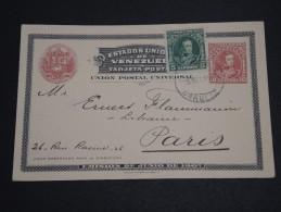 VENEZUELA - Entier Postal = Complément De Carupano Pour La France En 1909 - A Voir - L  3985 - Venezuela