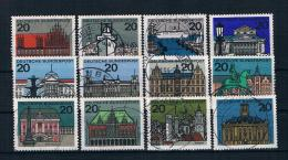 BRD/Bund 1964 Hauptstädte Mi.Nr. 416/27 Kpl. Satz Gestempelt - Usati