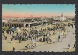 DF / MAROC / MARRAKECH / PLACE ET MOSQUÉE DE DJEMÂA EL FNA / CIRCULÉE EN 1954 - Marrakesh
