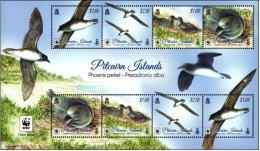 Pitcairn 2016 MS MNH WWF Phoenix Petrel Bird Birds