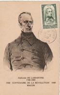 Carte Maximum - LAMARTINE Né à Macon En 1790..... - Unclassified