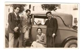 Carte Photo Formia Formies Automobile Scan Recto Verso - Altri