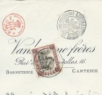 Doc. Banque (Banque D´Outremer) Affranchis Du N° 182 (Termonde) Obl: Bxl  23/09/1921 - Bélgica