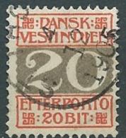 Antilles Danoises  - Taxe   - Yvert N° 6 Oblitéré Ava1025 - Denmark (West Indies)