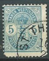 Antilles Danoise    -- Yvert N° 18 Oblitéré  ( Dents Courtes )   Ava1033 - Denmark (West Indies)