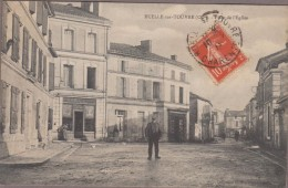 16-RUELLE-SUR-TOUVRE-Place De L'Eglise 1912  Animé Commerces...BOULANGERIE... - France