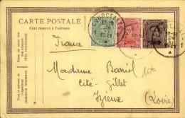 BELGIQUE - Entier Postal Avec Complément De Courcelles Pour La France En 1921 - A Voir - L  4012 - Stamped Stationery