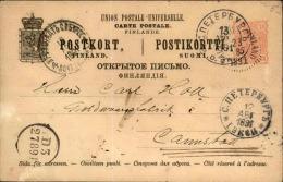 FINLANDE - Entier Postal Voyagé En 1891 - A Voir - L  4014 - Storia Postale