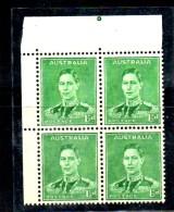 CI930 - AUSTRALIA 1941, Gibbons 183 Quartina Integra *** - 1937-52 George VI