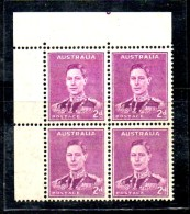 CI959 - AUSTRALIA 1941, Gibbons 185 Quartina Integra *** - 1937-52 George VI