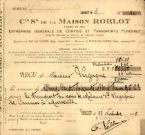 Thématique « POMPES FUNEBRES » - Document Commercial (petit Format) à Entête De Lettre – A Voir - N° 19008 - Petits Métiers