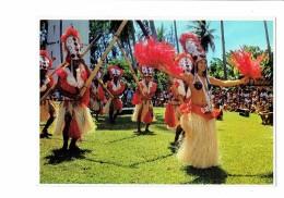 Tahiti - Danseurs - Danse Tahitienne à La Pointe Vénus - Femme Mi-nue Homme Folklore Costume - TEVA Sylvain 117 ? - Tahiti
