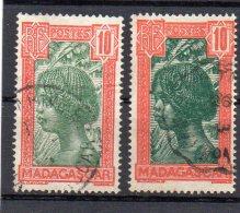 Madagascar : 165 OBL (2 Couleurs) - Usados