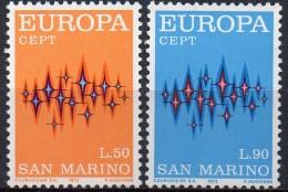 PIA - SAN  MARINO  - 1972 : Europa - (YV  808-09) - Europa-CEPT