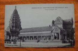 CARTE POSTALE - FRANCE - MARSEILLE EXPOSITION COLONIALE 1922 - TEMPLE D'ANGKOR VAT - PERSONNAGES - Exhibitions