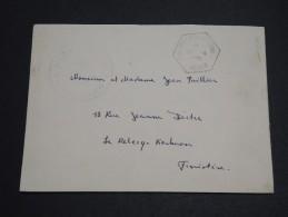 """FRANCE / ALGERIE - Oblitération """" Cap Matif Ou Marine Alger """" En 1961 Sur Enveloppe Pour La France - A Voir - L  4038 - Algeria (1924-1962)"""
