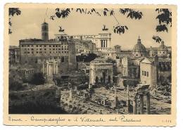 ROMA - CAMPIDOGLIO E IL VITTORIALE DAL  PALATINO   VIAGGIATA FG - Autres