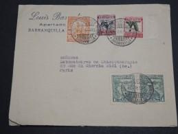 COLOMBIE - Enveloppe De Barranquilla Pour Paris En 1936 , Affranchissement Plaisant - A Voir - L  4045 - Colombia