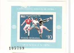 ROMANIA POSTA ROMANA OLIMPIC GAMMES MUNICH 72 - Calcio