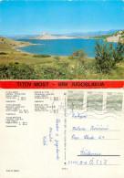Tito's Bridge, Krk, Croatia Postcard Posted 1983 Stamp - Croatia