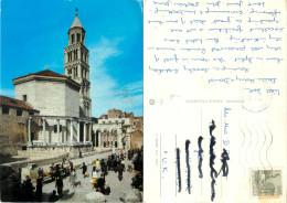 Split, Croatia Postcard Posted 1980 Stamp - Kroatien