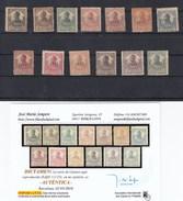 LOTE8 CERT1 GUINEA 111/123 CON CHARNELA ALGUNOS OXIDOS DICTAMEN  SEMPERE - Guinea Española