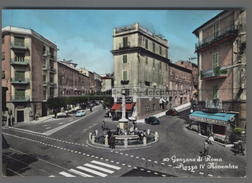 A452 GENZANO DI ROMA PIAZZA IV NOVEMBRE COLORATA  A MANO - Altre Città