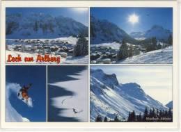 LECH Am Arlberg - Mehrbildkarte M. Madloch Abfahrt, Ski Paradies - Lech
