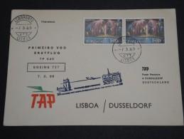 PORTUGAL - Enveloppe 1 Er Vol Lisbonne / Dusseldorf En 1969 Par Boeing 727 - A Voir - L  4055 - Covers & Documents