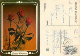 Flowers, Czech Republic Postcard Posted 1979 Stamp - Czech Republic