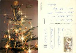 Christmas, Czech Republic Postcard Posted 1983 Stamp - Czech Republic