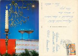 Christmas, Czech Republic Postcard Posted 1973 Stamp - Czech Republic
