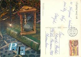 Christmas, Czech Republic Postcard Posted 1976 Stamp - Czech Republic